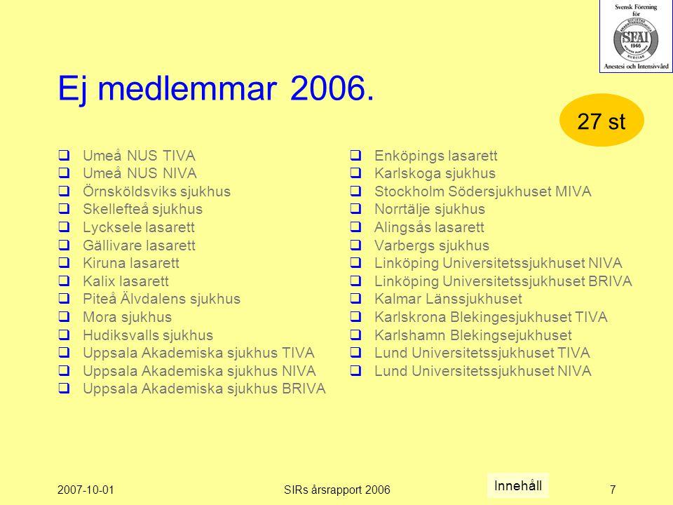 2007-10-01SIRs årsrapport 20067 Ej medlemmar 2006.