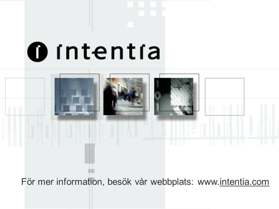 www.intentia.com Intentia_Corp_Prs_SWE 42 För mer information, besök vår webbplats: www.intentia.comintentia.com