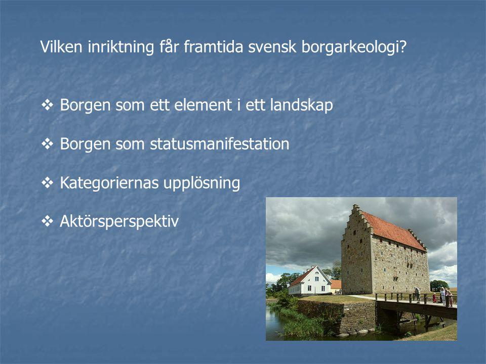Vilken inriktning får framtida svensk borgarkeologi.