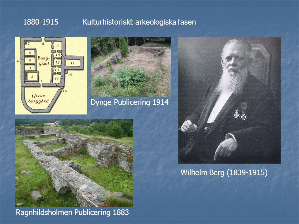 Otto Rydbeck (1872-1954) Skanör: Undersökningar 1907-1909 Publicering 1935
