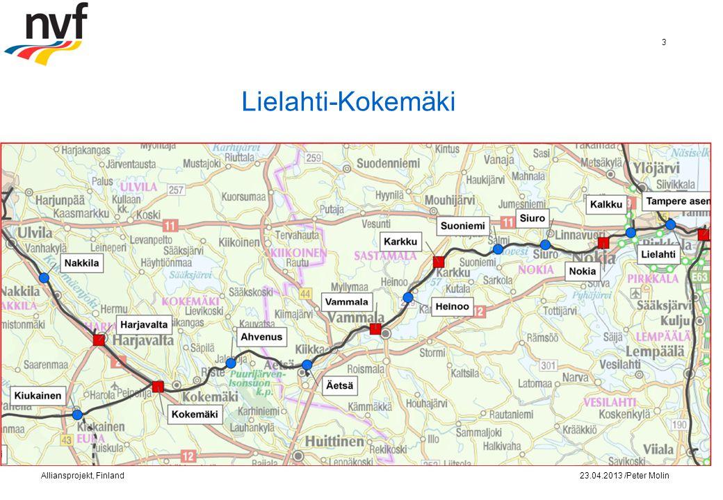 Lielahti-Kokemäki 23.04.2013 /Peter MolinAlliansprojekt, Finland 3