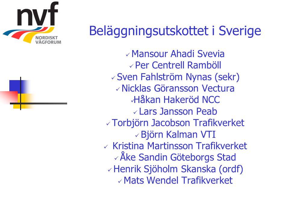 Beläggningsutskottet i Sverige Mansour Ahadi Svevia Per Centrell Ramböll Sven Fahlström Nynas (sekr) Nicklas Göransson Vectura Håkan Hakeröd NCC Lars