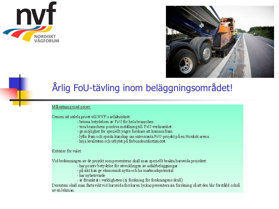 Årlig FoU-tävling inom beläggningsområdet!