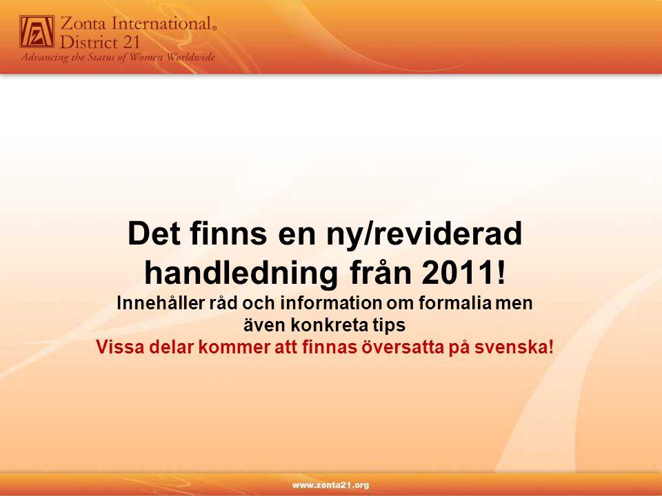Det finns en ny/reviderad handledning från 2011.