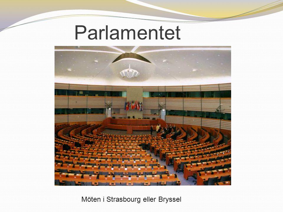 Parlamentet Möten i Strasbourg eller Bryssel