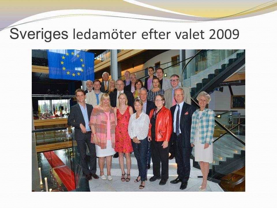 Sveriges ledamöter efter valet 2009