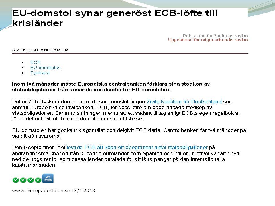EFSF Samtidigt bildades en tillfällig räddningsfond, EFSF som till största delen betalades av Tyskland, Frankrike, Italien och Spanien.
