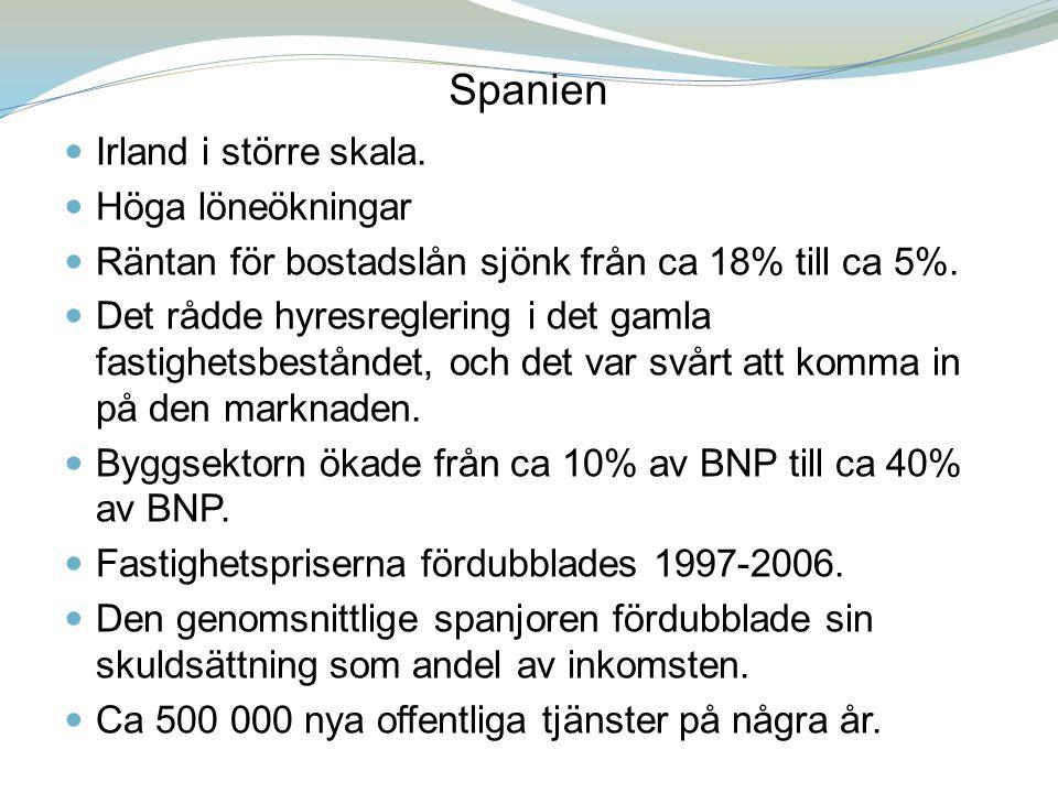 Spanien Juni 2012: Spanien begär och får ett räddningspaket värt 100 mdr euro från eurozonen.
