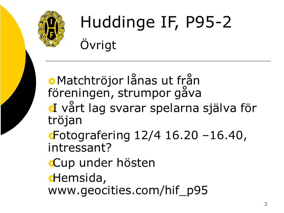 3  Matchtröjor lånas ut från föreningen, strumpor gåva  I vårt lag svarar spelarna själva för tröjan  Fotografering 12/4 16.20 –16.40, intressant?