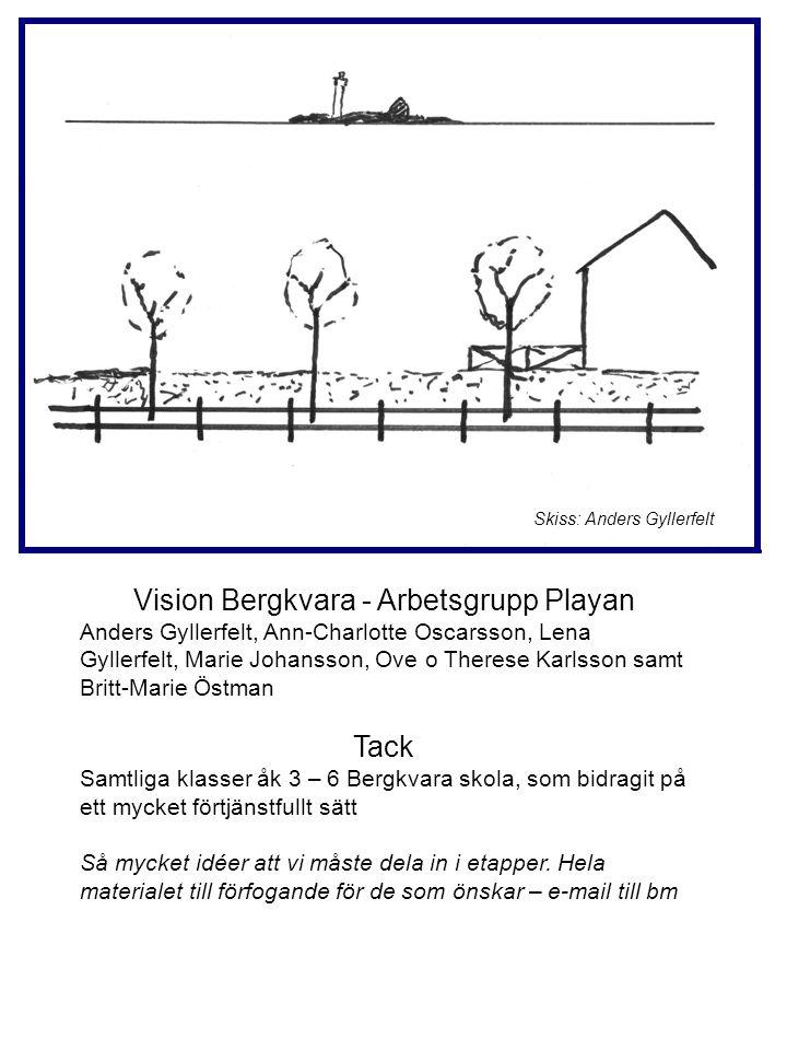 Vision Bergkvara - Arbetsgrupp Playan Anders Gyllerfelt, Ann-Charlotte Oscarsson, Lena Gyllerfelt, Marie Johansson, Ove o Therese Karlsson samt Britt-