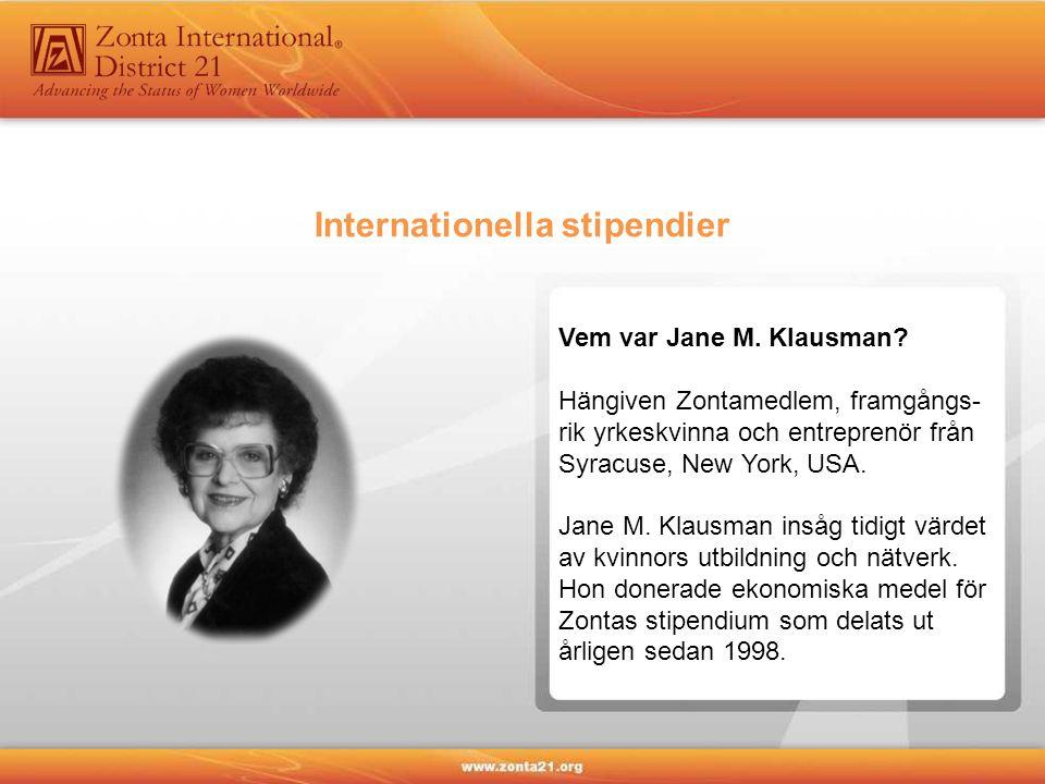 Vem var Jane M. Klausman.