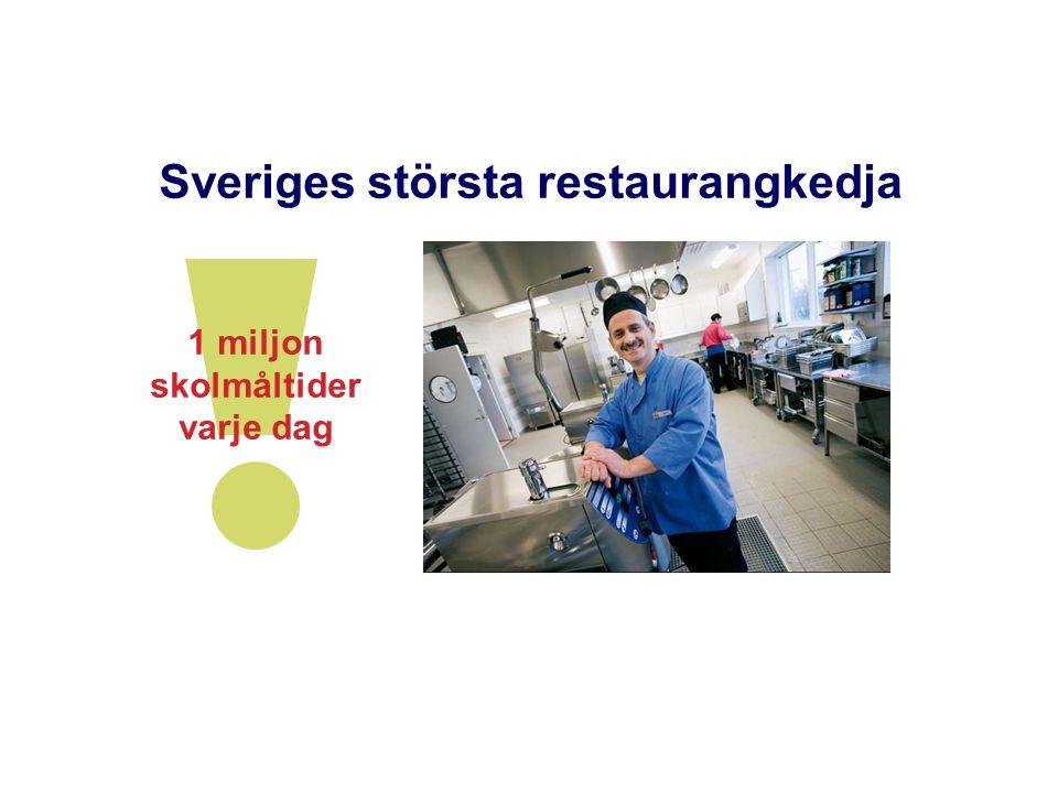 1 miljon skolmåltider varje dag Sveriges största restaurangkedja