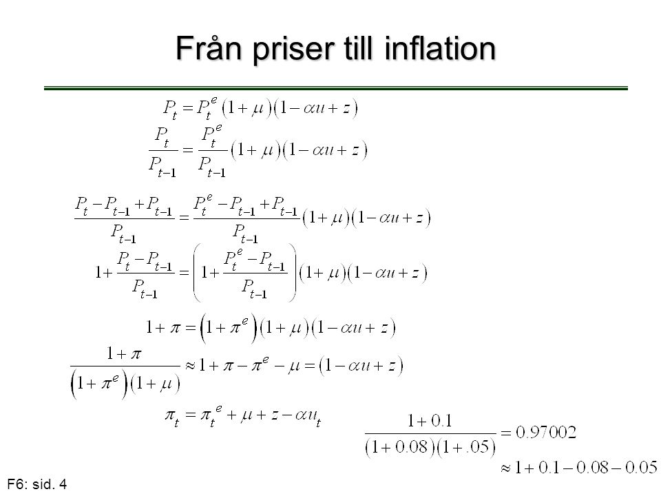 F6: sid. 4 Från priser till inflation