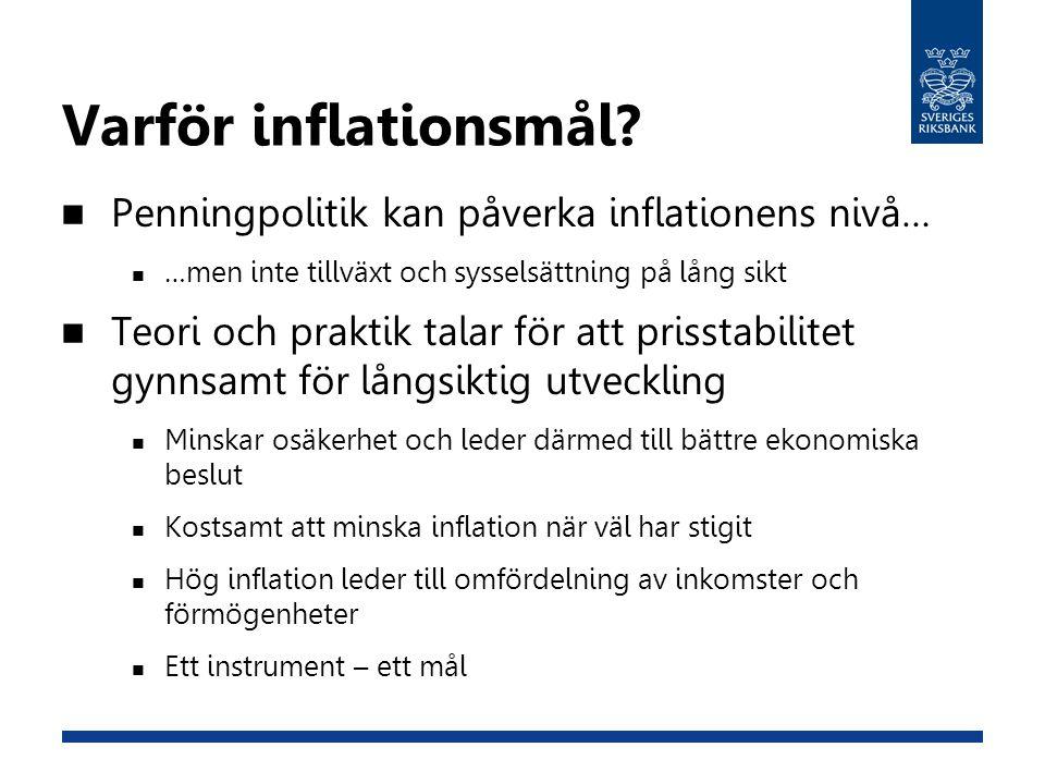 Varför inflationsmål.