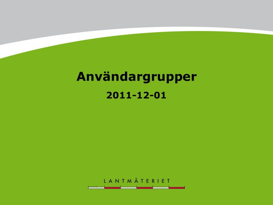 Användargrupper 2011-12-01