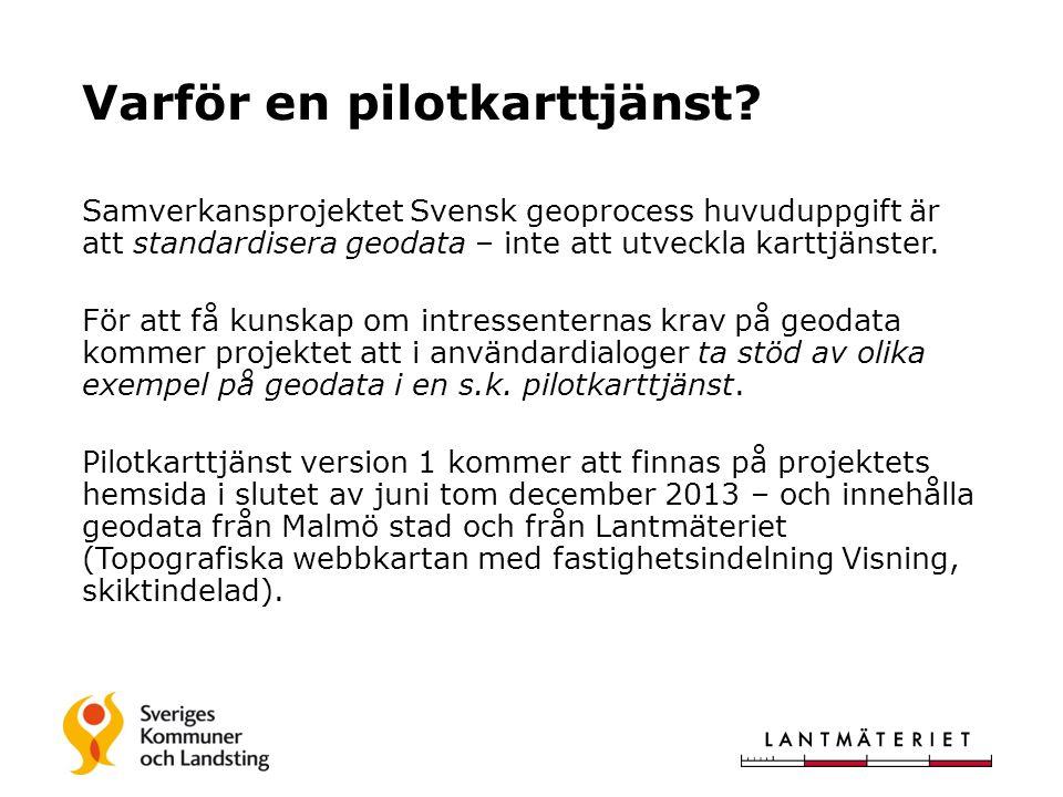 Samverkansprojektet Svensk geoprocess huvuduppgift är att standardisera geodata – inte att utveckla karttjänster.