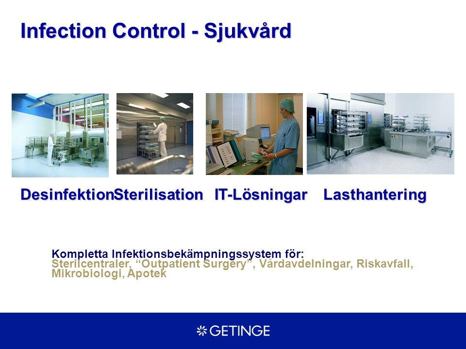 """DesinfektionIT-LösningarSterilisation Infection Control - Sjukvård Lasthantering Kompletta Infektionsbekämpningssystem för: Sterilcentraler, """"Outpatie"""