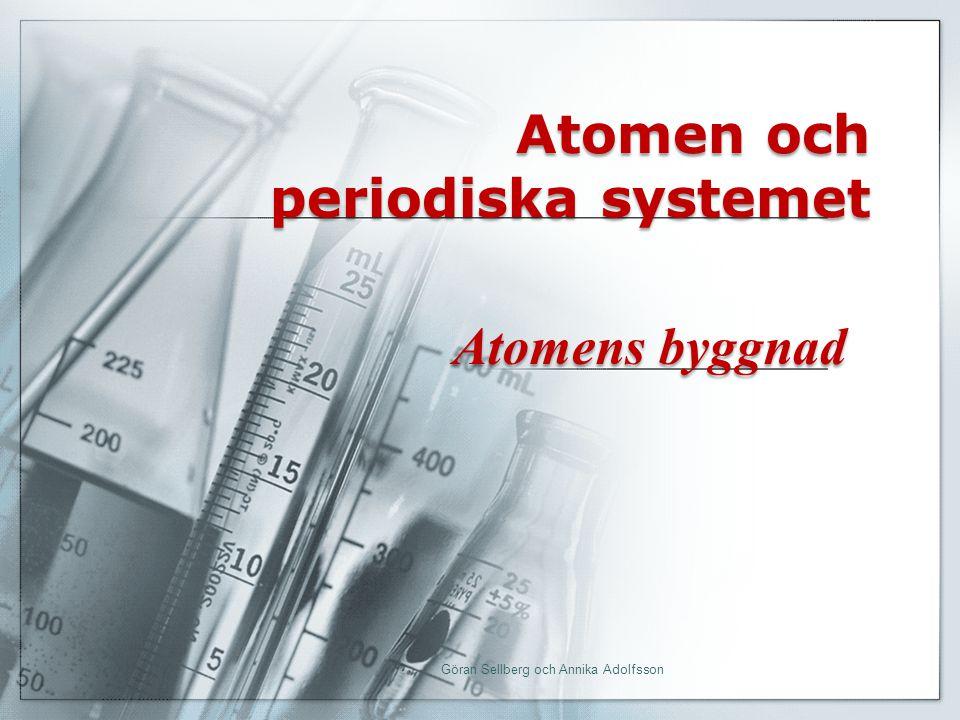 Atomen och periodiska systemet Atomens byggnad Göran Sellberg och Annika Adolfsson