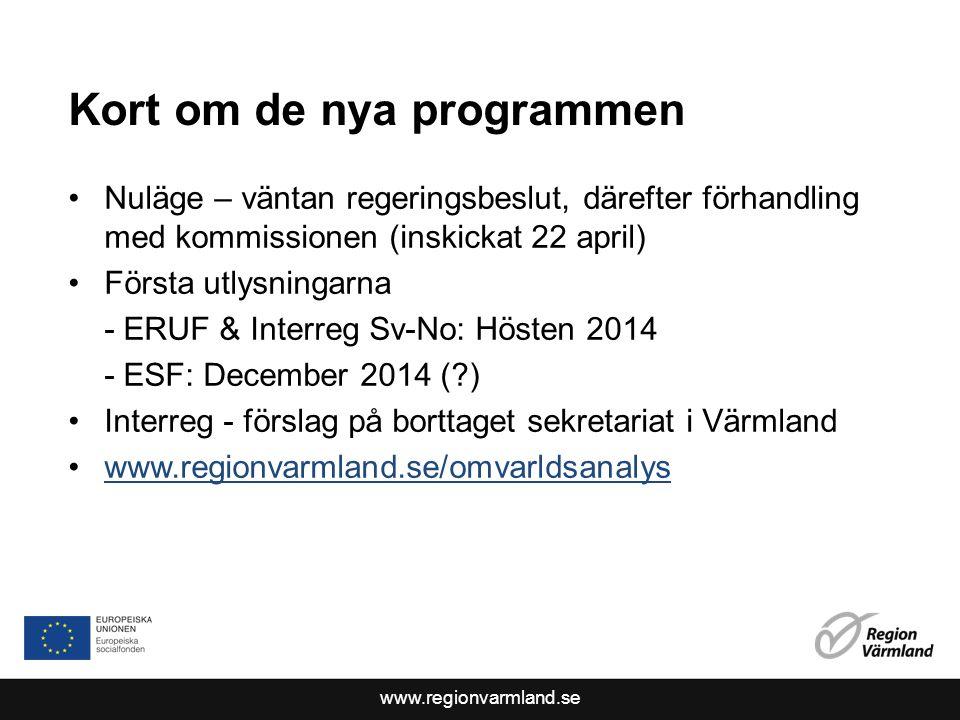 www.regionvarmland.se Miljö Ulf Andersson, Naturvårdsverket