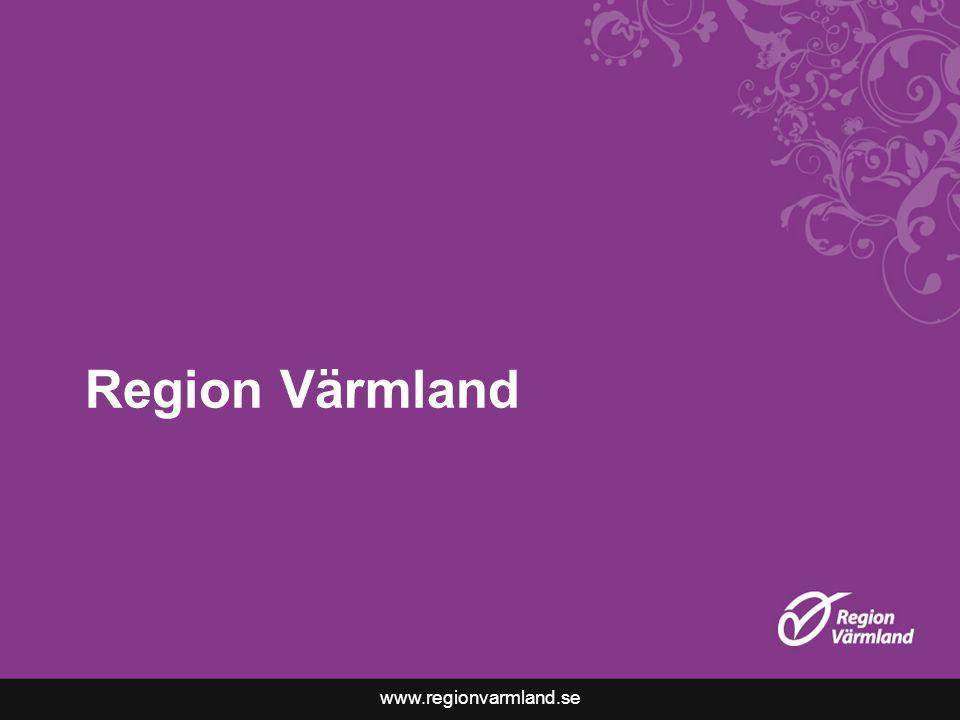 www.regionvarmland.se Region Värmland