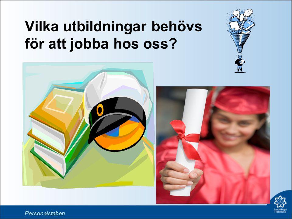 Vilka utbildningar behövs för att jobba hos oss? T Personalstaben