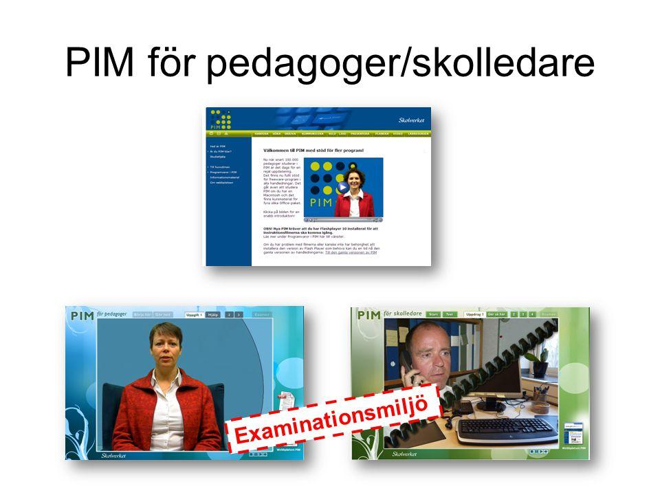 Efter studier på PIM går du vidare till PIM för pedagoger PIM- examination