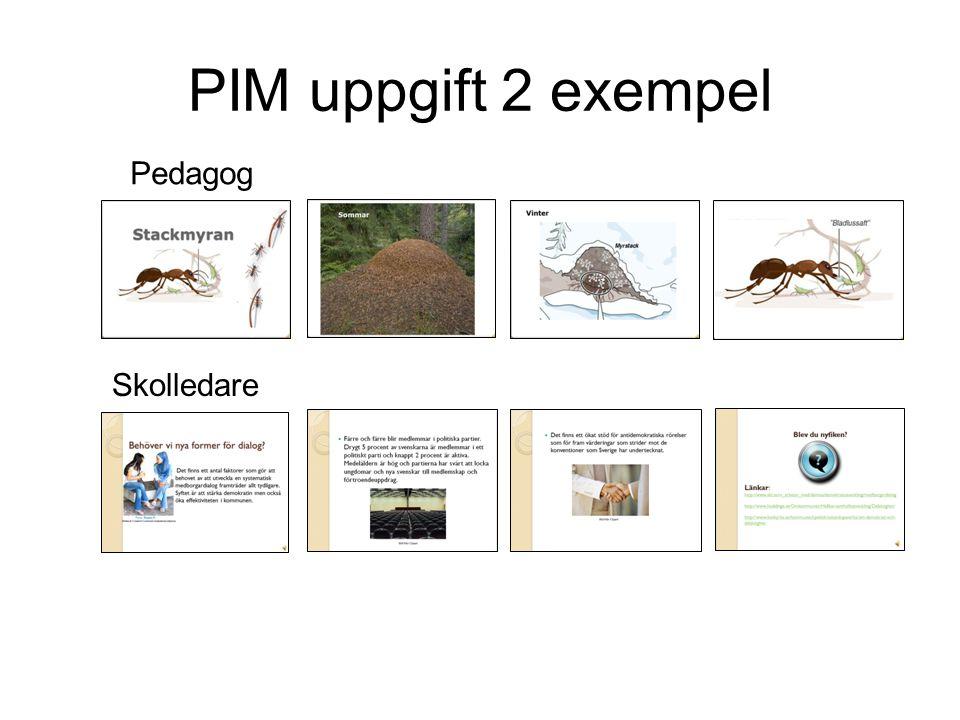 PIM-uppgift 3: Berätta med bilder och musik Du ska göra en film av stillbilder.
