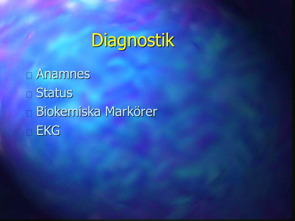 Diagnostik n Anamnes n Status n Biokemiska Markörer n EKG