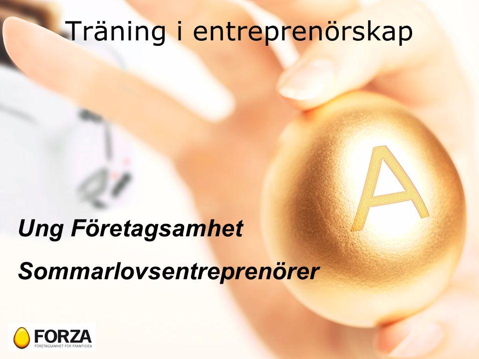 Träning i entreprenörskap Ung Företagsamhet Sommarlovsentreprenörer