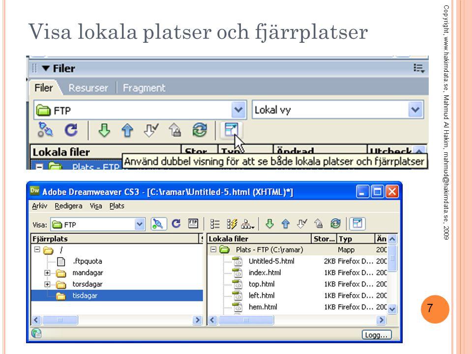 28 T IPS : A RBETA MED M Y SQL LOKALT Starta MySQL Copyright, www.hakimdata.se, Mahmud Al Hakim, mahmud@hakimdata.se, 2009