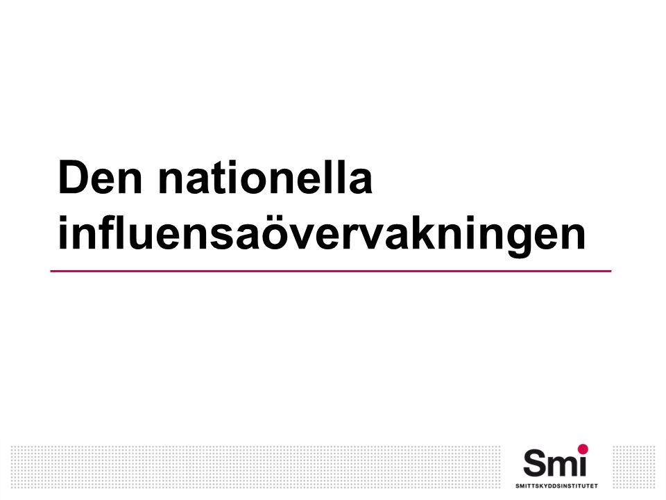 Den nationella influensaövervakningen