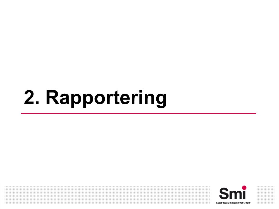 2. Rapportering