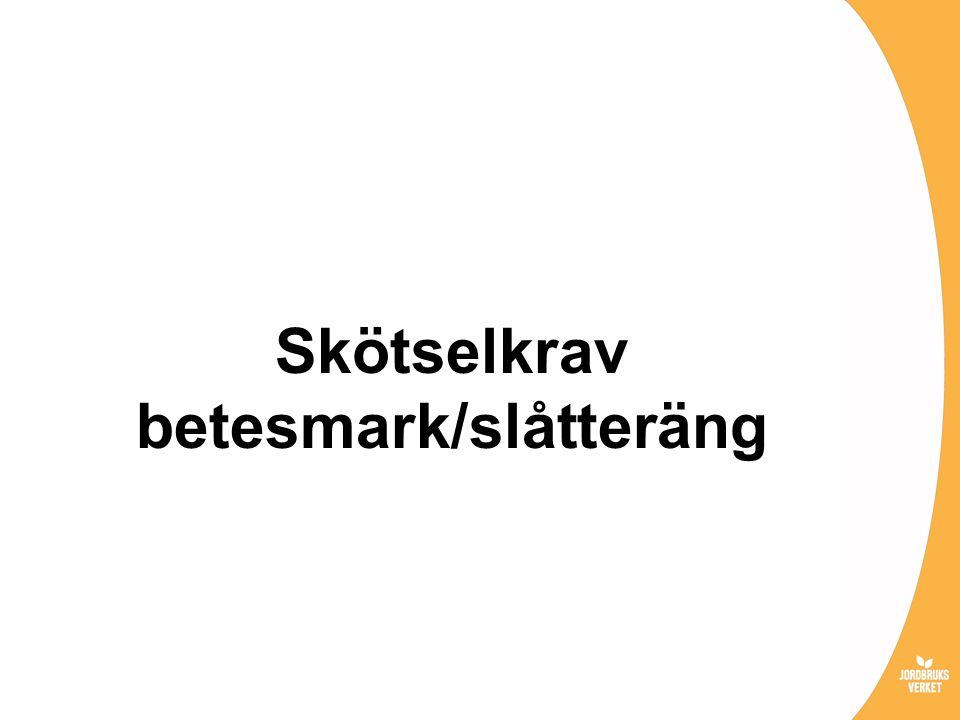 Skötselkrav betesmark/slåtteräng