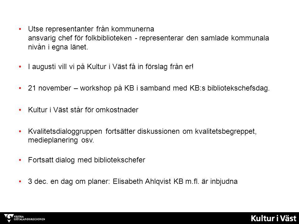 Biliotekssamverkan http://www.kb.se/bibliotek/ http://www.kb.se/bibliotek/ Samtal pågår – om kvalitet i referenssamtalet http://refsamtalet.wordpress.com/ http://refsamtalet.wordpress.com/ I regeringens tjänst från Biblioteksdagarna i Umeå http://vimeo.com/94650785 Nya bibliotekslagen - vad kräver den av oss.