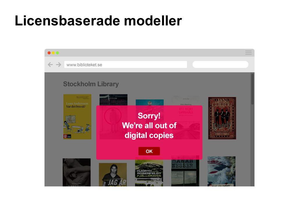 Licensbaserade modeller