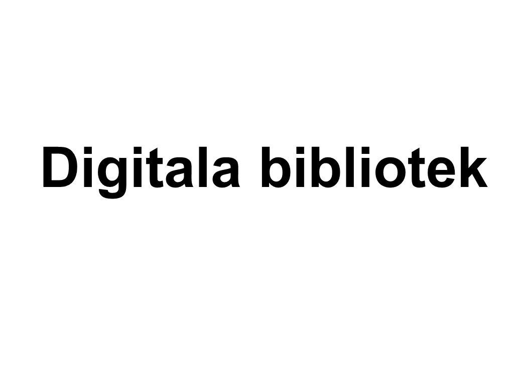 Digitala bibliotek