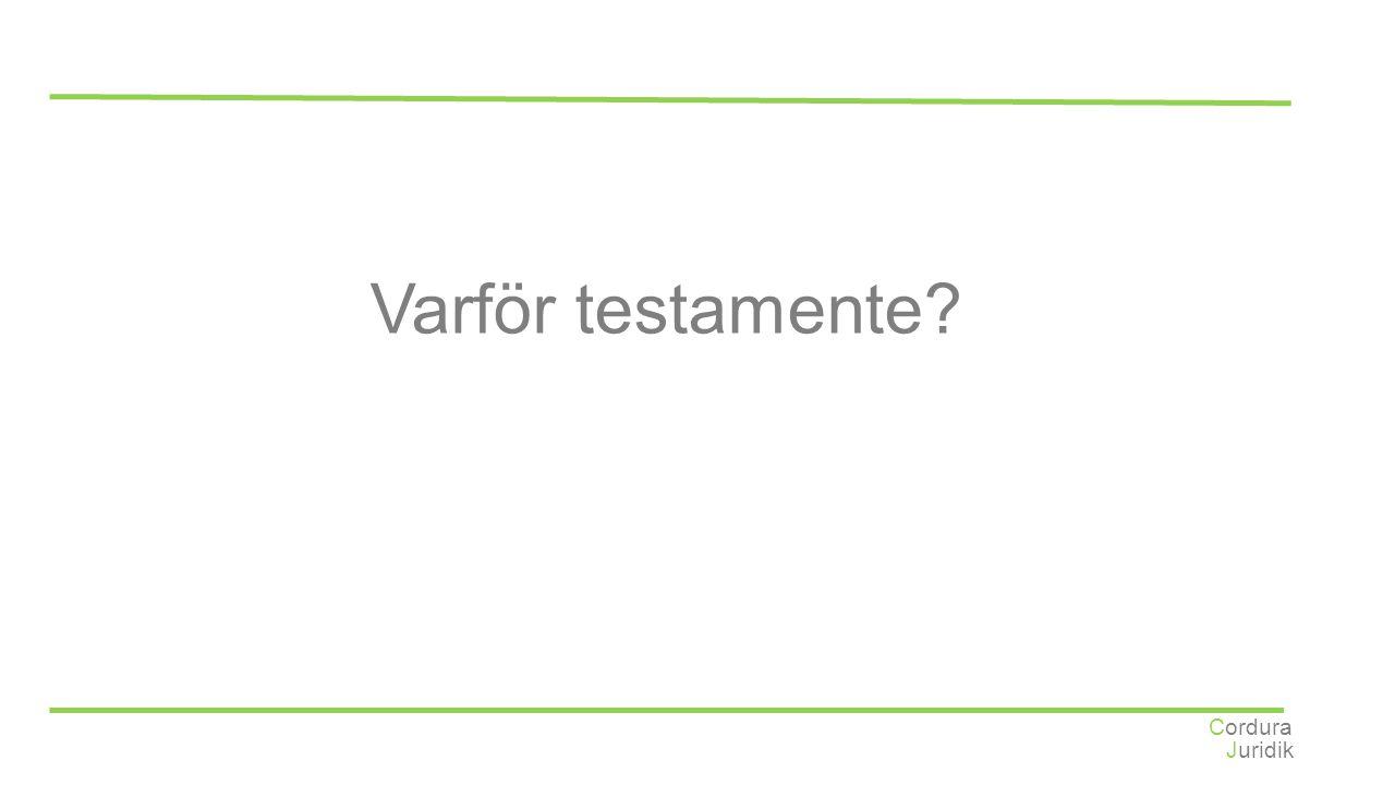 Juridik Cordura Varför testamente?