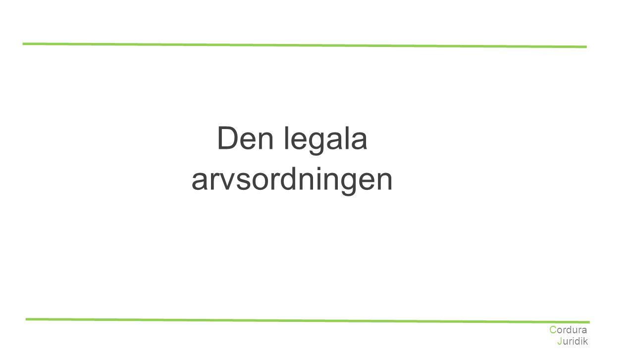 Juridik Cordura Den legala arvsordningen