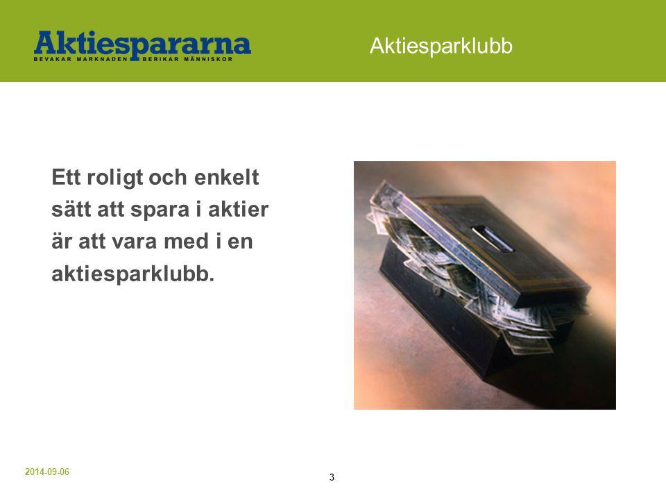 2014-09-06 4 Aktiesparklubb Hur startar man.