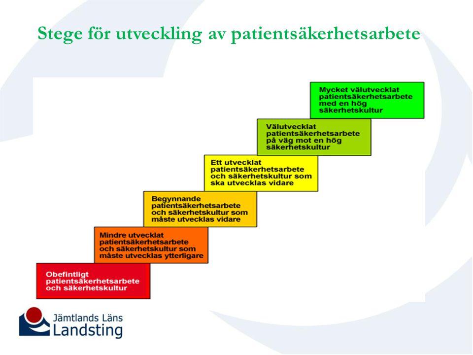 Stege för utveckling av patientsäkerhetsarbete
