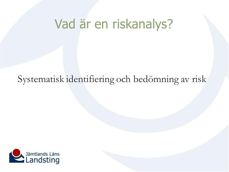 Vad är en riskanalys? Systematisk identifiering och bedömning av risk
