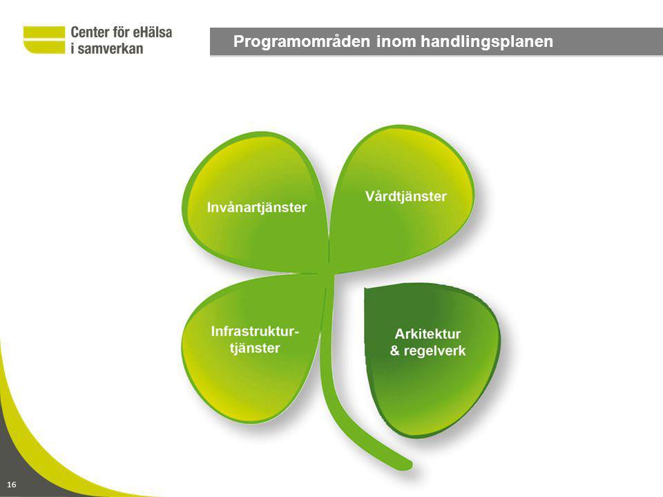 16 Programområden inom handlingsplanen