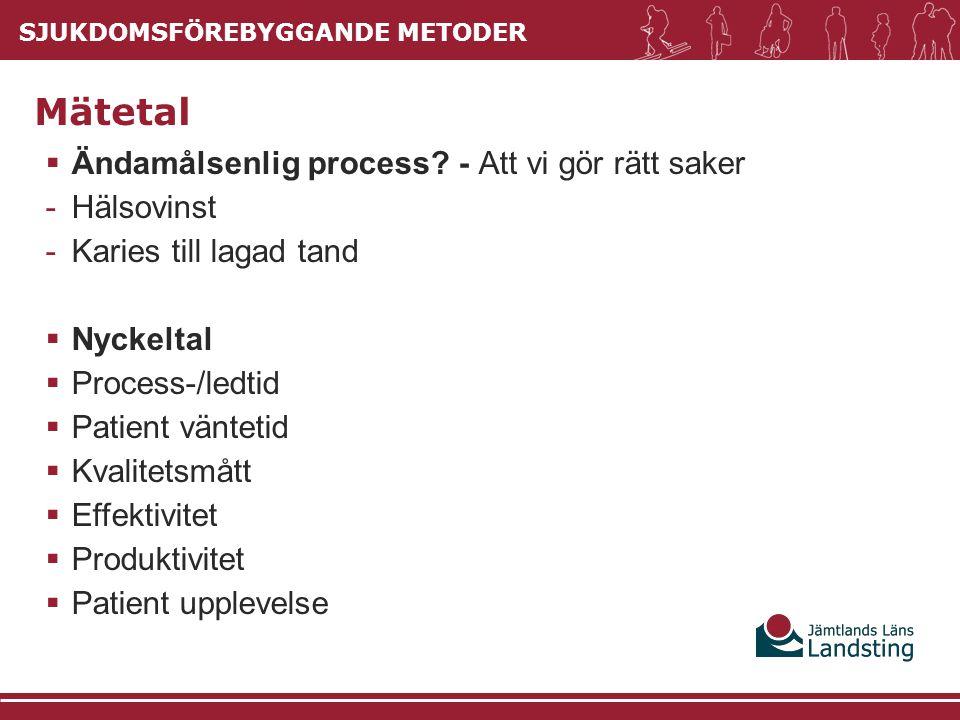 SJUKDOMSFÖREBYGGANDE METODER  Ändamålsenlig process.