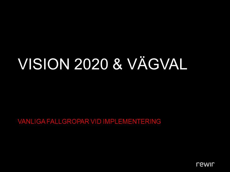 VISION 2020 & VÄGVAL VANLIGA FALLGROPAR VID IMPLEMENTERING