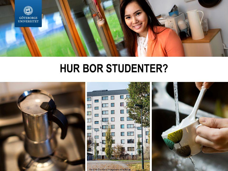 HUR BOR STUDENTER Heléne Grynfarb/imagebank.sweden.se