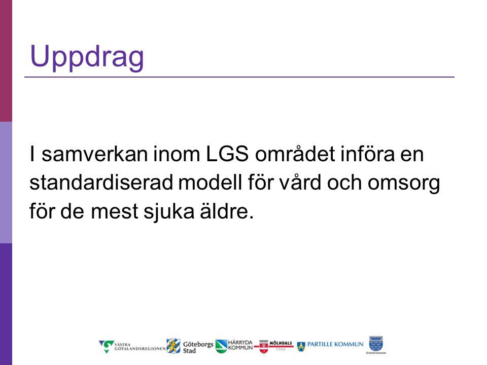 Uppdrag I samverkan inom LGS området införa en standardiserad modell för vård och omsorg för de mest sjuka äldre.