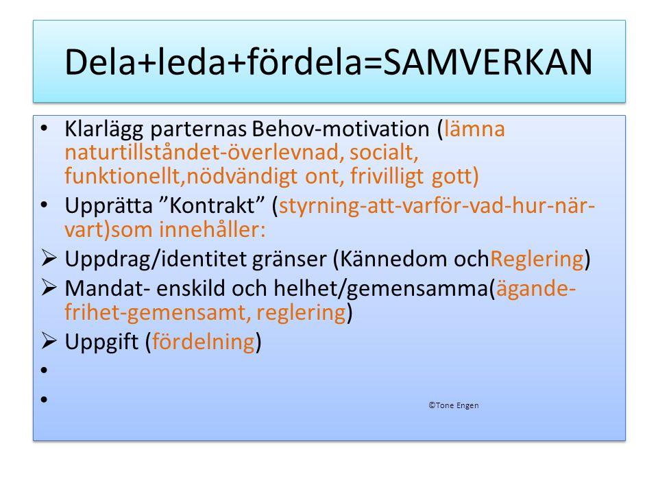 ?=Samverkan från samhällsbildning till organisation/verksamhet ©Tone Engen