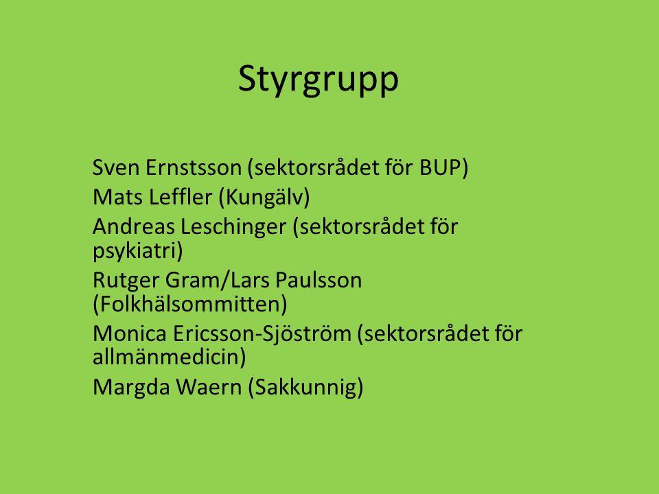 Adjungerade grupper Vuxenpsykiatri Barn-och ungdomspsykiatri Allmänmedicin Akutmedicin inkl ambulansverksamhet Hälsovård