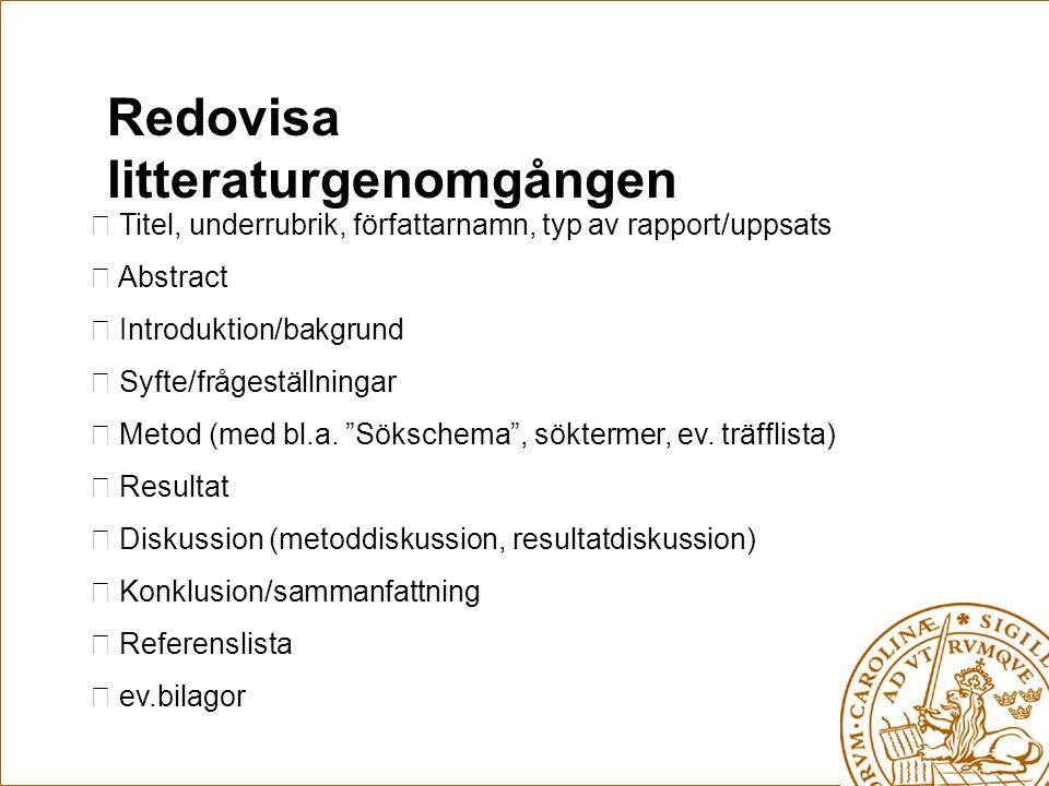 Några litteraturtips Nordstedts fackordböcker.(2000) Medicine.