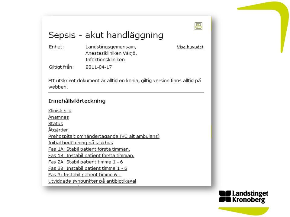 Tid till första antibiotikados 2011-01-01 – 2012-06-30